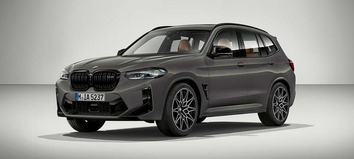BMW X3 M Individual F97 LCI Facelift 2021 Grigio Telesto Dreiviertelfrontansicht