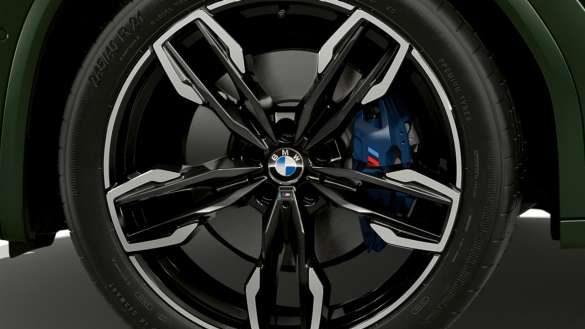 BMW X3 M40i M40d G01 LCI Facelift 2021 Malachitgrün metallic M Sportbremse Nahaufnahme Rad