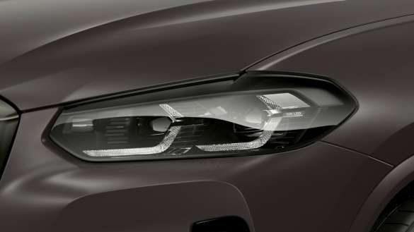 BMW X4 M40i M40d G02 LCI 2021 Facelift BMW Individual Leuchten Shadow Line Nahaufnahme